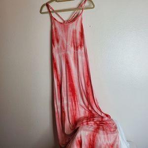 UMGEE USA peach maxi dress size L